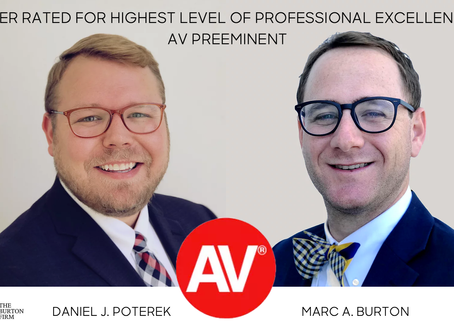 Daniel J. Poterek and Marc A. Burton named AV Preeminent by Martindale-Hubbell