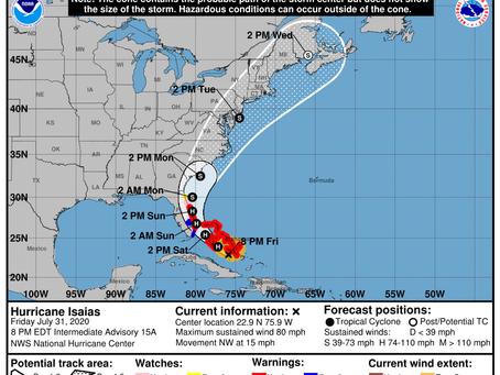 Preparing for Hurricane Isaias