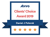 Daniel Poterek Avvo Clients Choice 2019.
