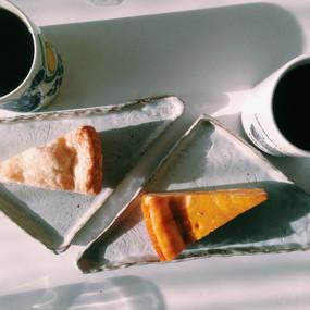 ケイタ 大山崎町 コーヒー。ケーキと一緒に