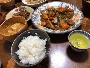 もち 島本町 酢豚と番茶
