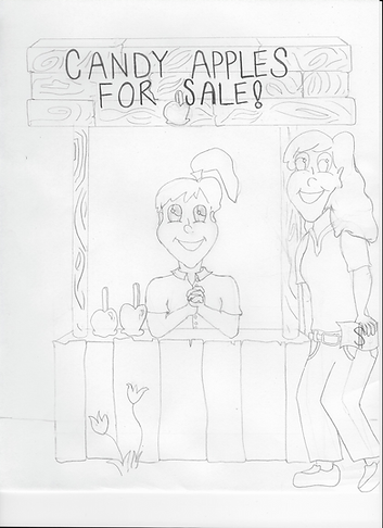 Girl Selling Candy Apples [Stage 3]