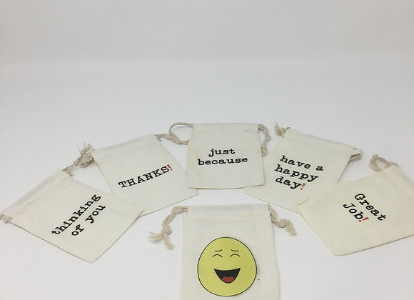 Set of 6 Positivity Bags