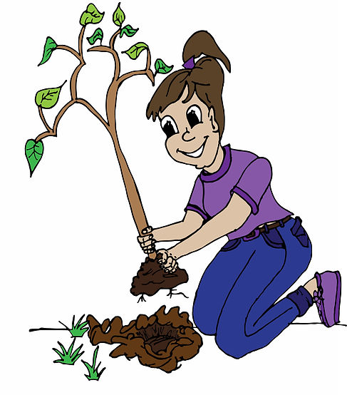 Girl Planting Tree [Stage 1]