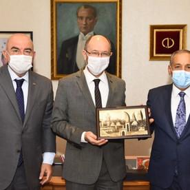 Anadolu Universiteti rektoru Prof.Dr. Fuat Erdala təbrik ziyarəti