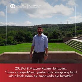 2018-ci il Məzunu Rizvan Həmzəyəv