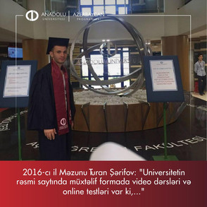 Universitetin rəsmi saytında müxtəlif formada video dərsləri və online testləri var ki,...