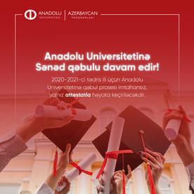 Anadolu Universitetində yalnız attestatla tələbə olmaq şansı...