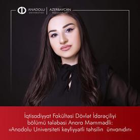 Anadolu Universiteti keyfiyyətli təhsilin ünvanıdır