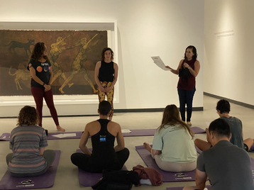 LACMA Art Moves TamaYoga Gallery intro- Teresa Flores and Rebecca Plevin