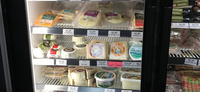 The cheese section at Five Markets.
