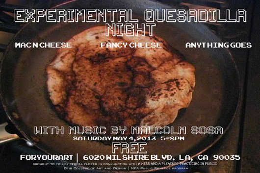 Flyer for the first Experimental Quesadilla Lab