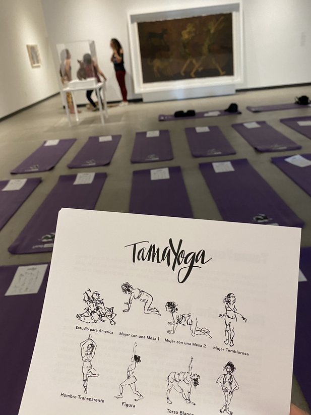 LACMA Art Moves TamaYoga Gallery Setup - Teresa Flores and Rebecca Plevin