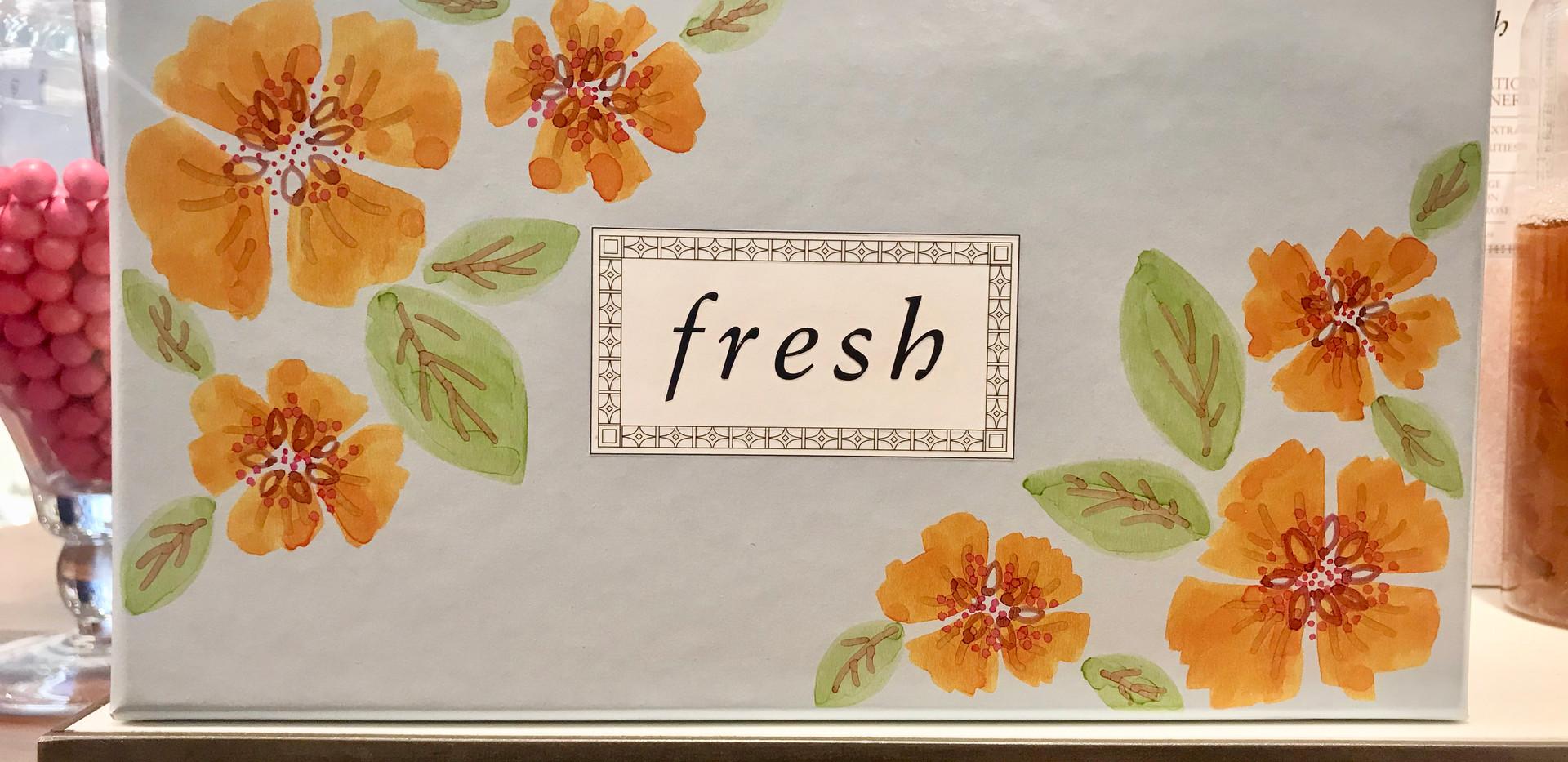 Flowers on Fresh Gift Box