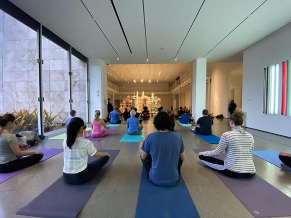 BCAM LACMA Yoga 4- Teresa Flores and Reb