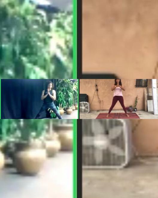 LACMA Art Moves TamaYoga Zoom Screenshot - Teresa Flores and Rebecca Plevin