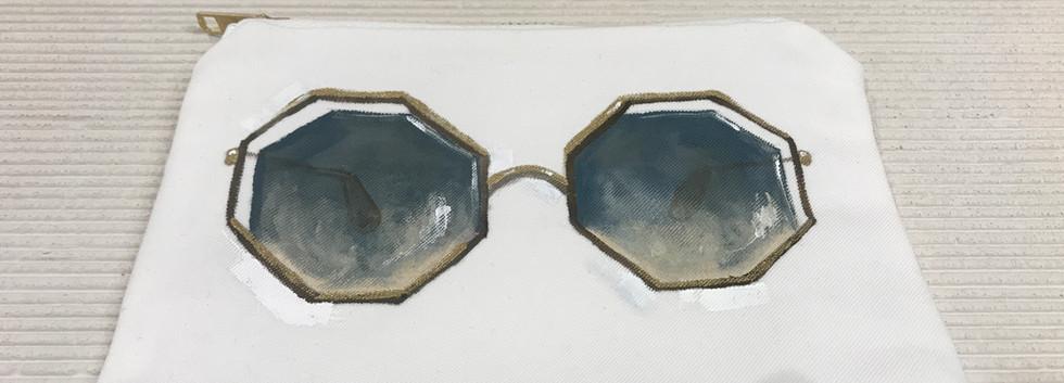 Painted Chloé Sunglasses Pouch