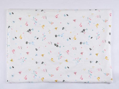 LW1047嬰兒紗布空調被- 清晨小鳥