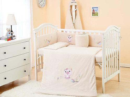 LW1006 嬰兒針織床品套裝 - 可愛小豬