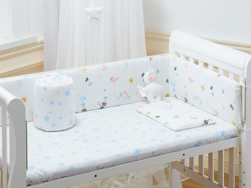 LW1046嬰兒紗布床圍- 清晨小鳥