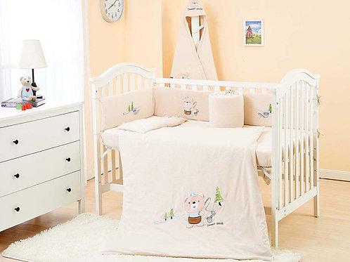 LW1016 嬰兒針織床品套裝 - 快樂小熊