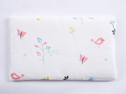 LW1048嬰兒紗布枕頭- 清晨小鳥