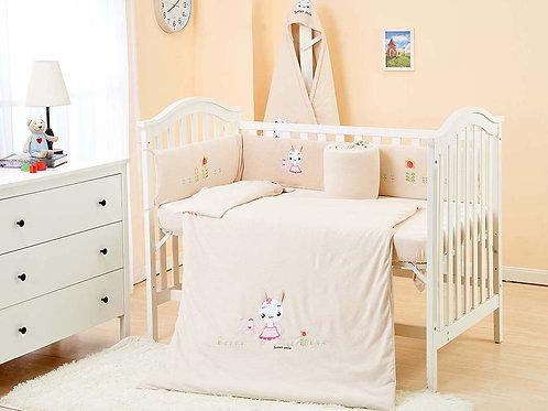 LW1011 嬰兒針織床品套裝 - 聰明小兔