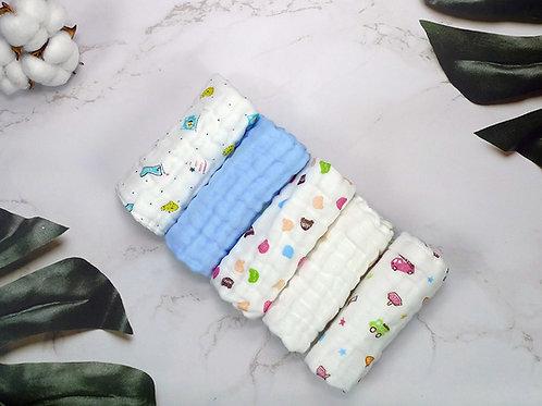 LW1035 全棉嬰兒紗布巾 (5條裝)