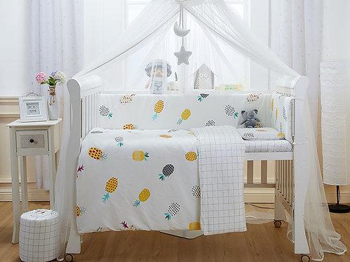 LW1036 嬰兒針織床品套裝 - 菠蘿格調