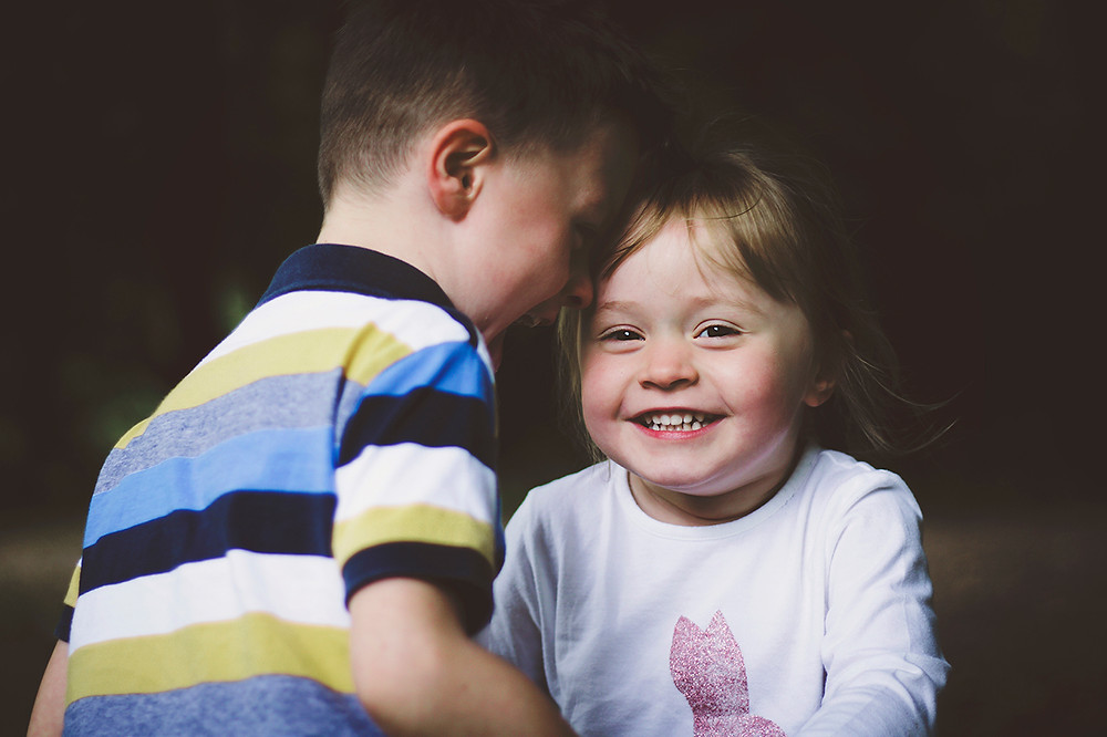 Smiling children. Family Photographer Plymouth