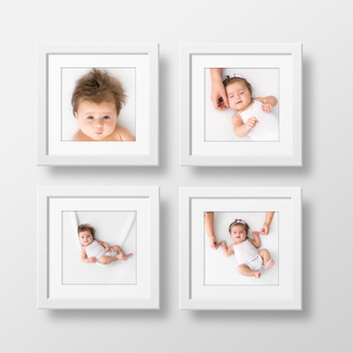 Set of four 10x10 framed prints for family and newborn photo shoots - Oh So Peachy Photography