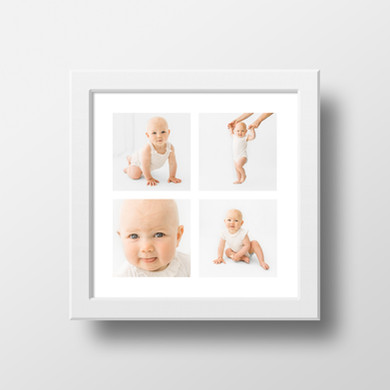 Children and baby photo frame from photo shoot - Oh So Peachy Photography