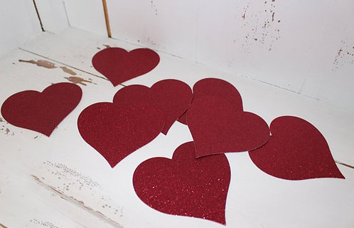 Glitter Hearts (Pick Color & Size)