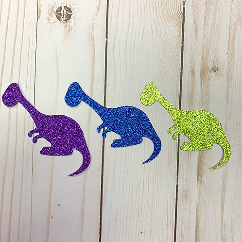 Glitter Dinosaur Shapes Pack (Pick Your Color)