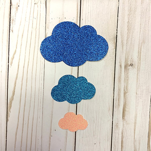 Glitter Cloud Shapes Pack (Pick Your Color)