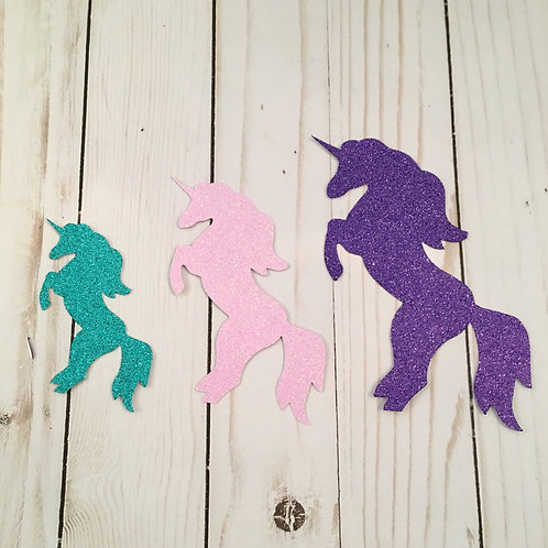Glitter Unicorn Shapes Pack (Pick Your Color)