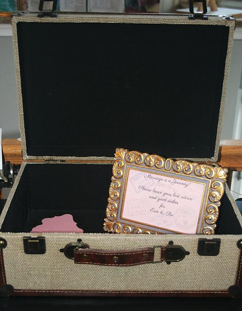 Vintage Suitcase Card/Favor Display