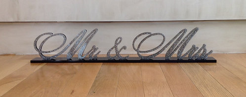 Mr & Mrs Acrylic Sign