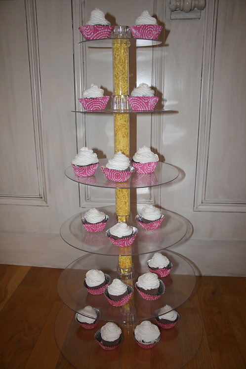Lucite Multi-Tier Cupcake Display