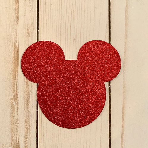 Glitter Mickey Mouse Shapes Pack (Pick Your Color)
