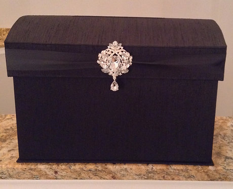 Domed Black Envelope Box
