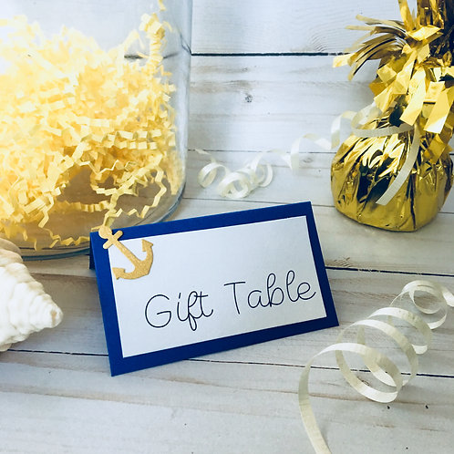 Anchor Nautical Buffet Tent Cards Pack
