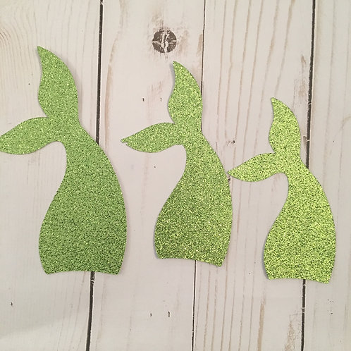 Glitter Mermaid Tail Shape Pack (Pick Your Color)