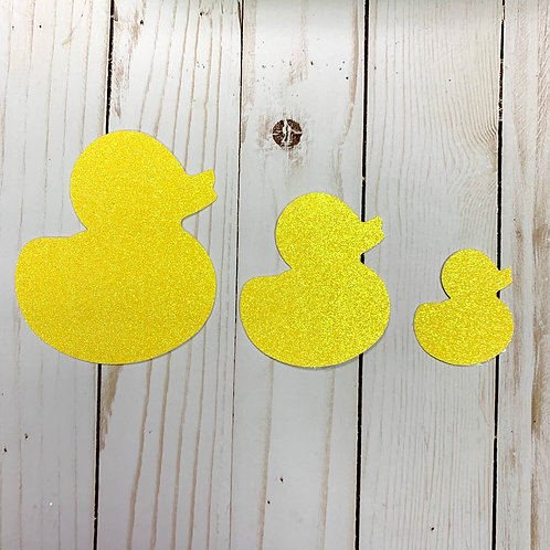 Glitter Rubber Ducky Shapes Pack (Pick Your Color)