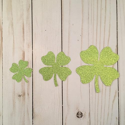Glitter 4 Leaf Clover Shape Pack (Pick Your Color)