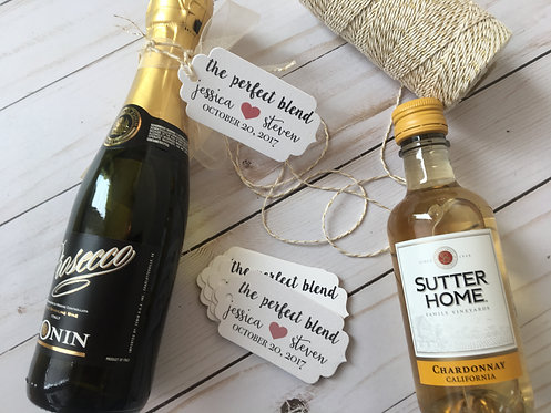 Perfect Blend Personalized Wedding Favor Tags with Twine