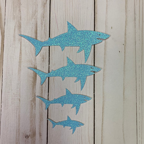 Glitter Shark Shapes (Pick Your Color)