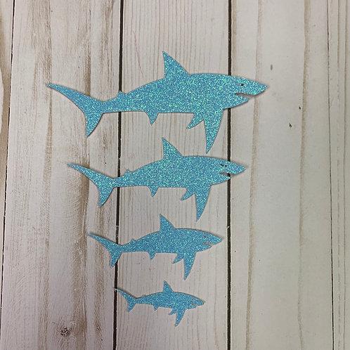 Glitter Shark Shapes (Pick Your Color)