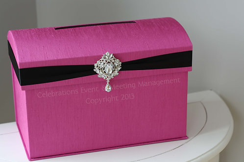 Domed Fuschia Envelope Box