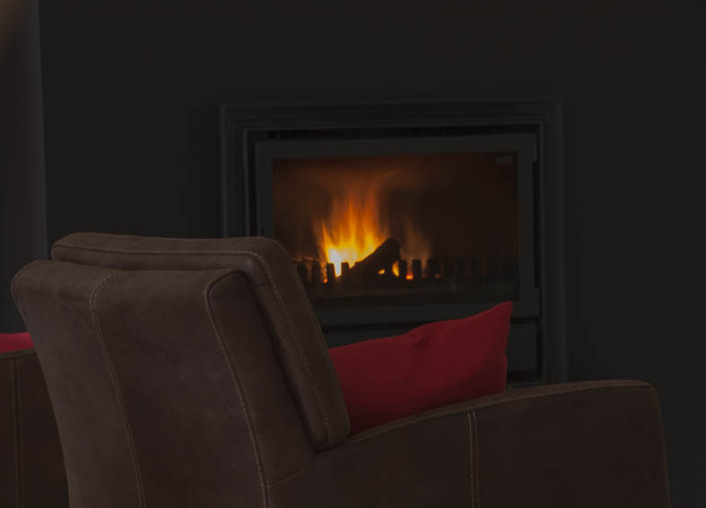 Take a seat around the fireplace…